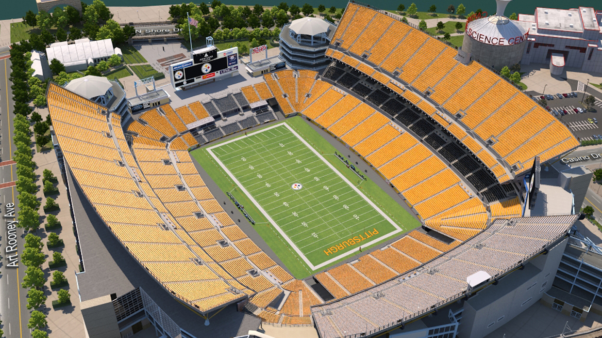 Pittsburgh steelers virtual venue by iomedia